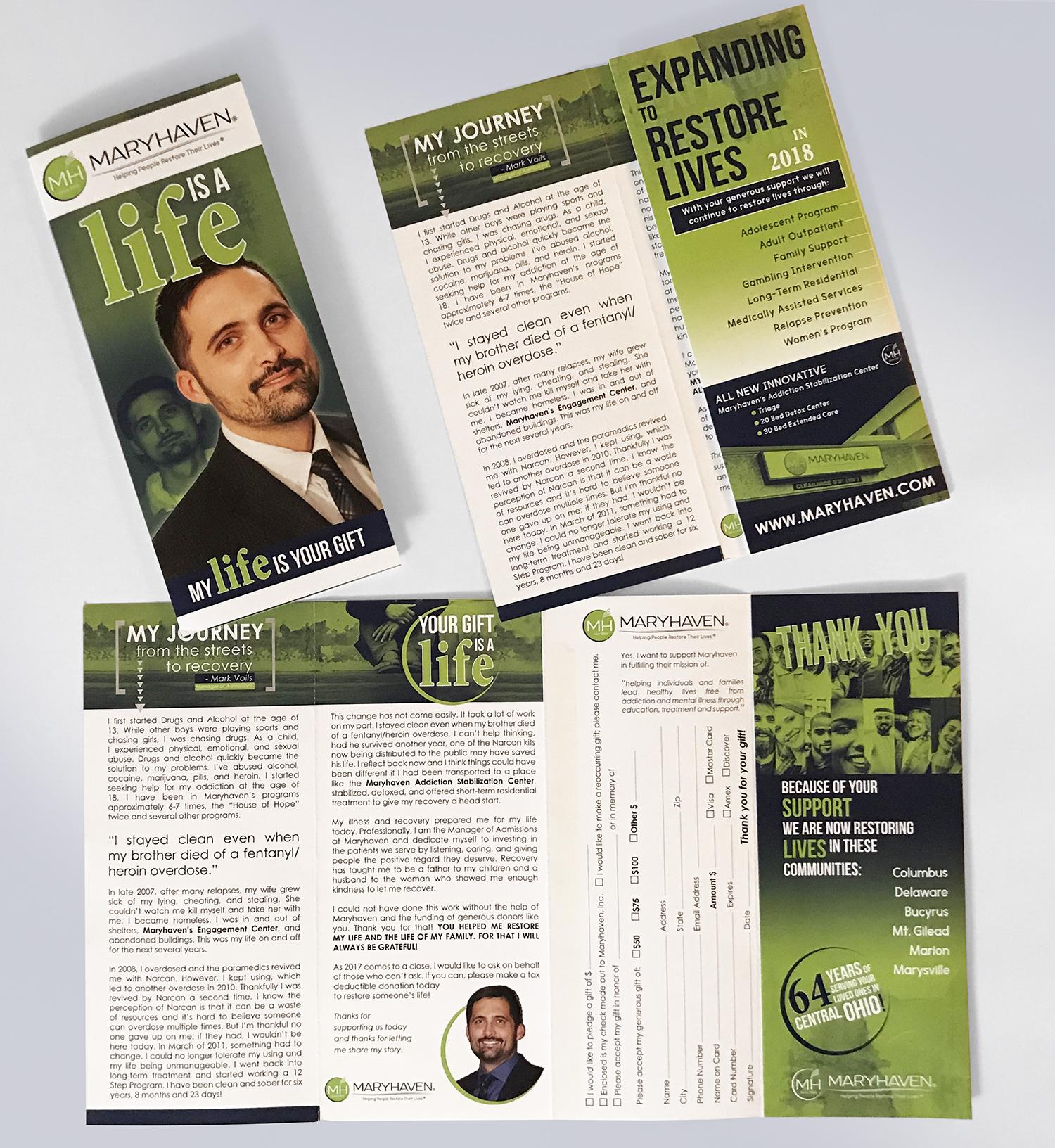 tridico design maryhaven brochure mailer